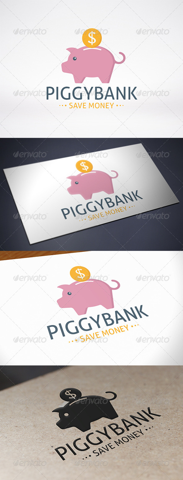 GraphicRiver Piggy Bank Logo Template 8012093