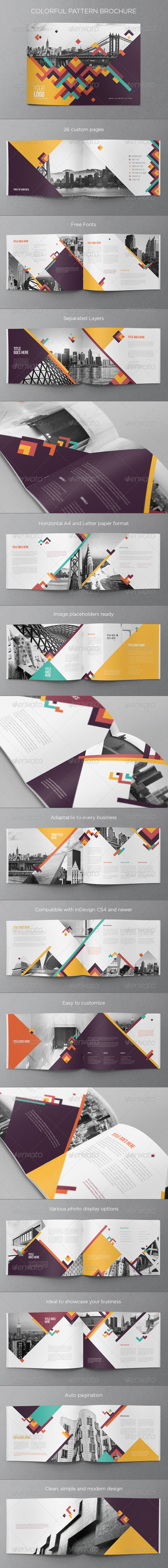 GraphicRiver Colorful Pattern Brochure 7999677