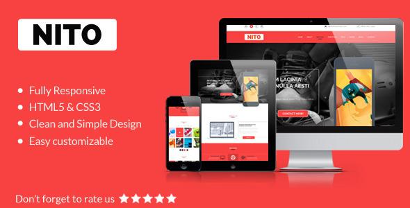 ThemeForest Nito Multipurpose OnePage Portfolio Template 8012315