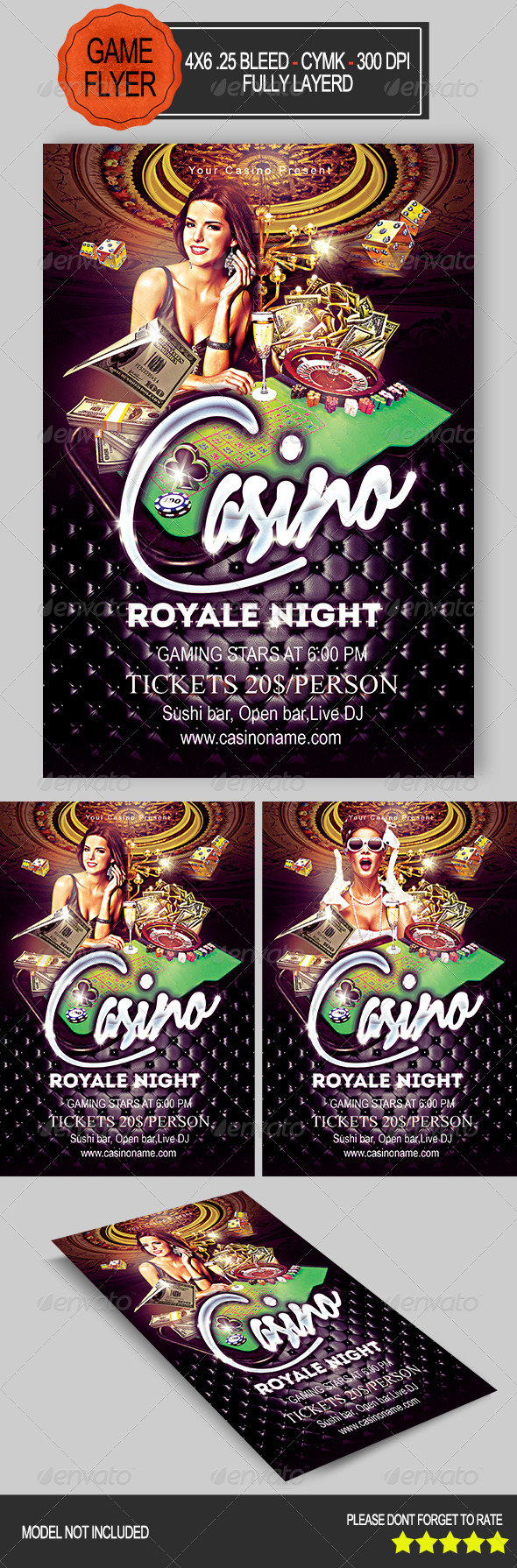 GraphicRiver Casino Night Flyer 8012339