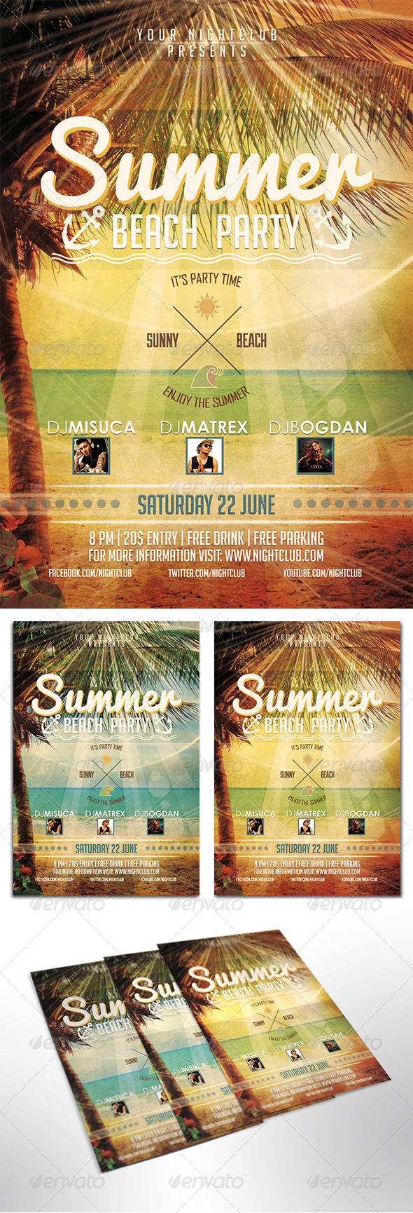GraphicRiver Summer Beach Party Flyer 7999043