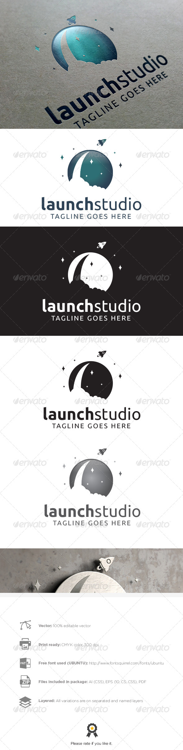 GraphicRiver Launch Studio Logo 8012576