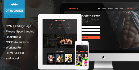 GYM Guide Fitness Landing Page