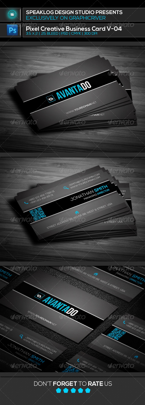 GraphicRiver Aventado Creative Business Card 8012616