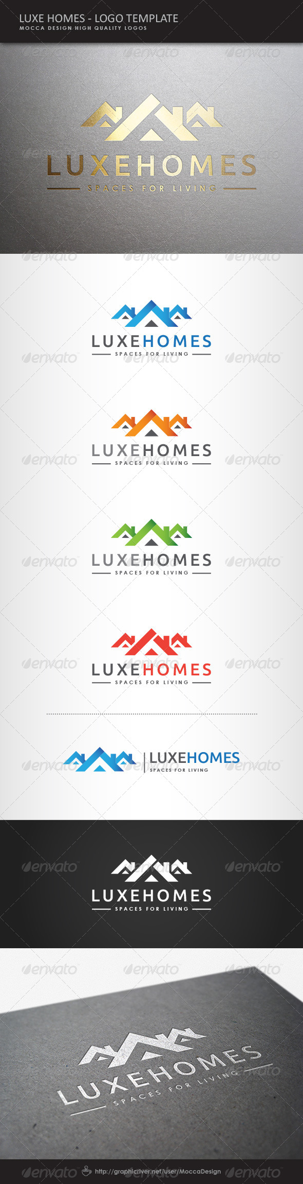 GraphicRiver Luxe Homes Logo 8012654