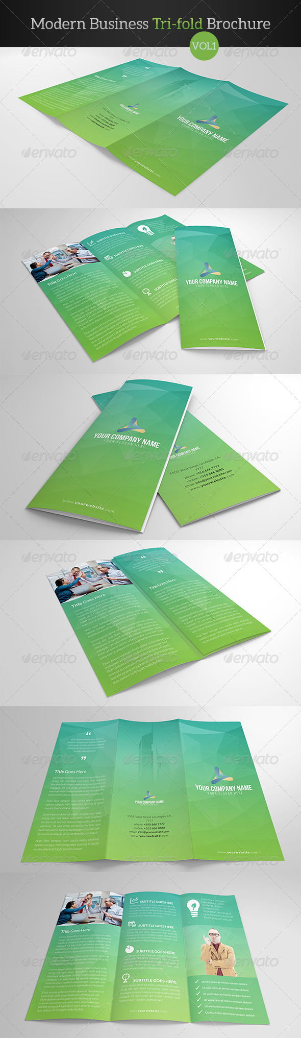 GraphicRiver Modern Business Trifold Brochure 7998989