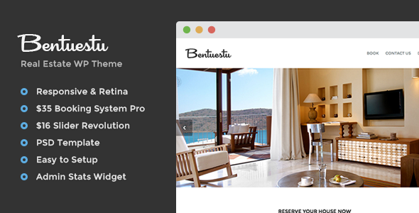 ThemeForest Bentuestu Responsive Real Estate Wordpress Theme 7794882