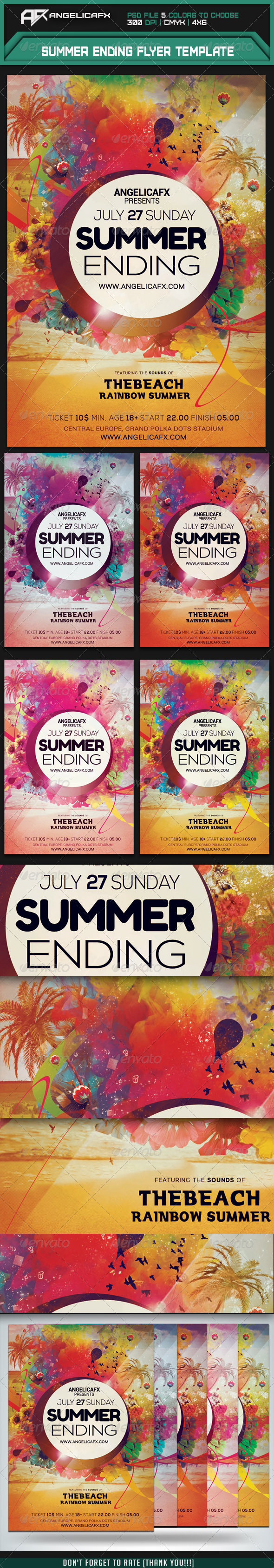 GraphicRiver Summer Ending Flyer Template 7954189