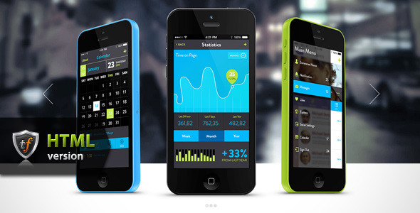 ThemeForest Tapptastic Mobile App HTML Theme 8012793