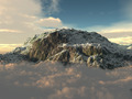 Snowy Mountains at Sunset 3D Render - PhotoDune Item for Sale