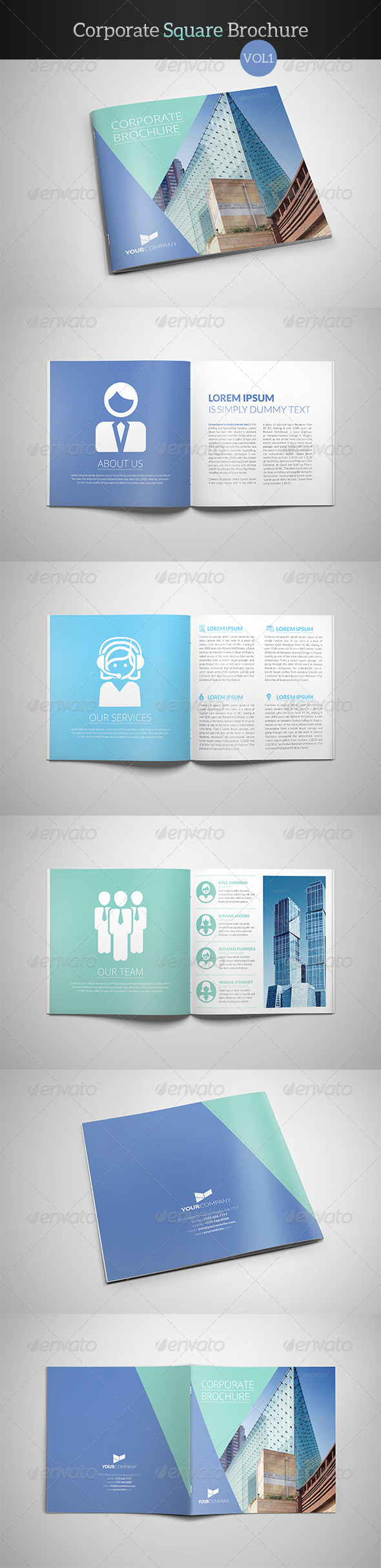 GraphicRiver Corporate Square Brochure 8002958