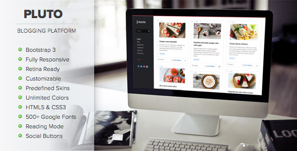 ThemeForest Pluto Clean Personal WordPress Blog Theme 7950280