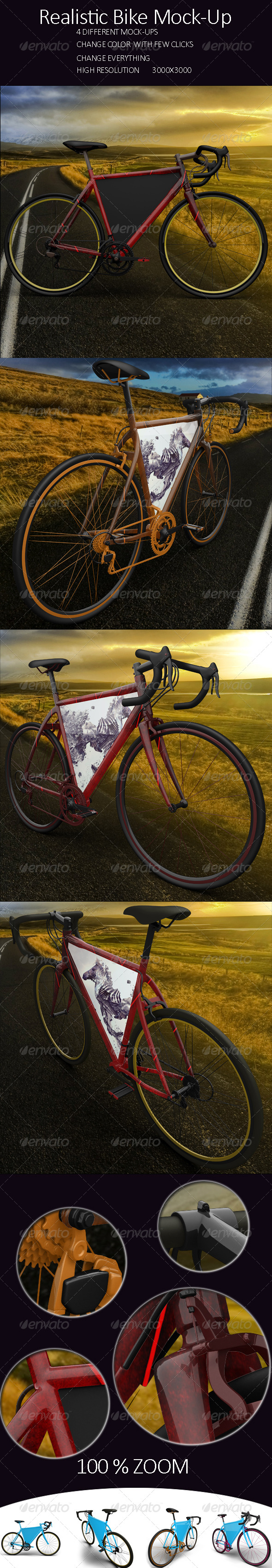 GraphicRiver Realistic Bike Mock Up 8012834