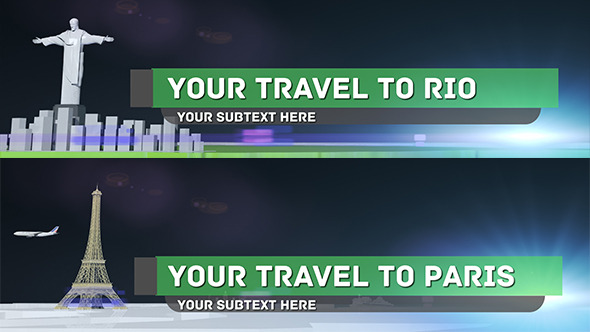 Travel and Soccer Lower Thirds