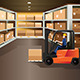 Worker Driving a Forklift - GraphicRiver Item for Sale