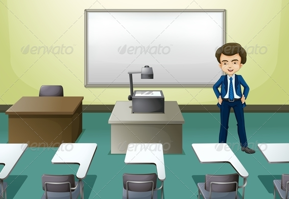GraphicRiver Man in Conference Room 8012933