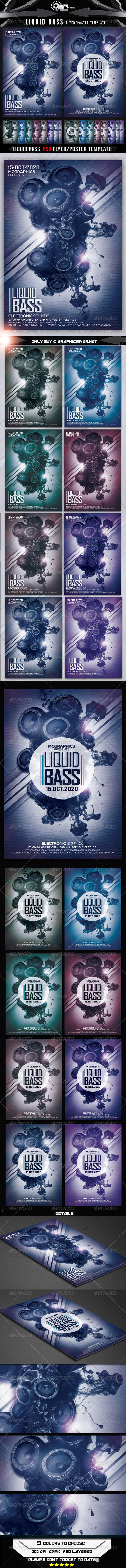 GraphicRiver Liquid Bass Flyer Template 8012966