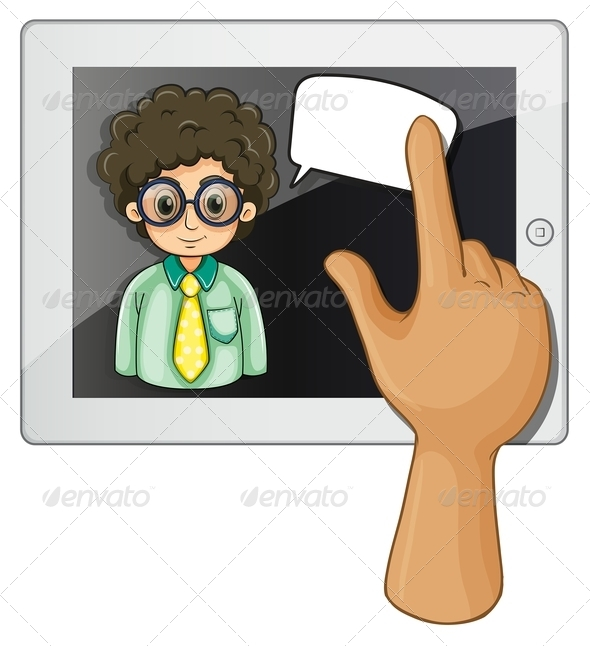 GraphicRiver Touch Pad and Speech Bubble 8012992