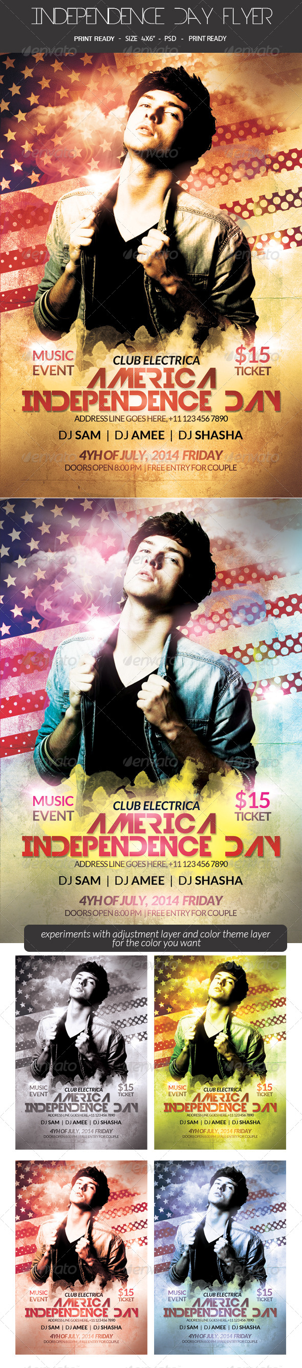 GraphicRiver American Independence Day Flyer 8013039