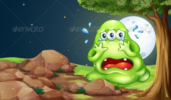 GraphicRiver Monster Crying at Night 8013045