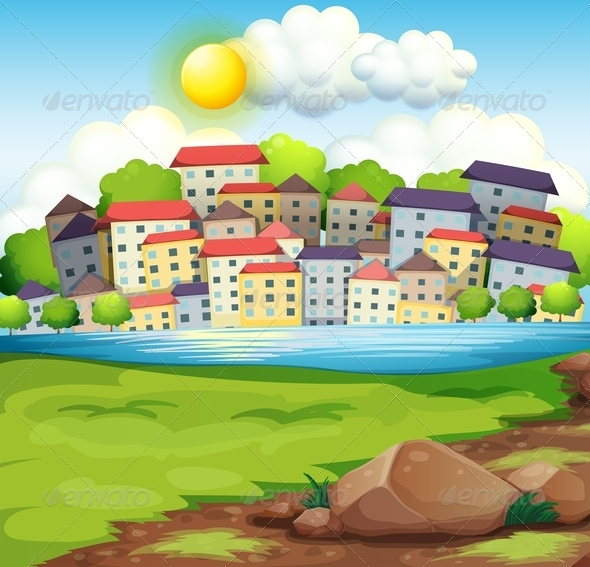 GraphicRiver Village by the River 8013090