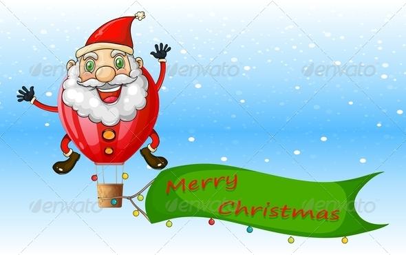 GraphicRiver Santa Balloon 8013096