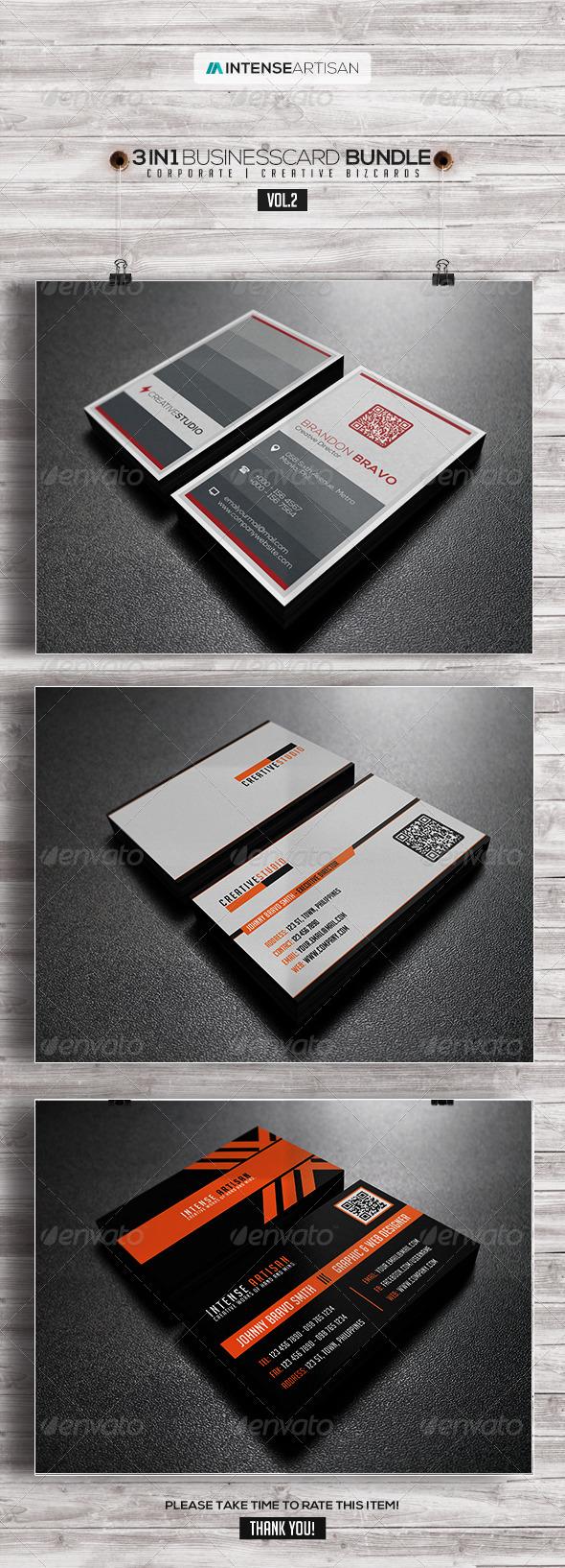 GraphicRiver 3IN1-BUSINESS CARD BUNDLE V.2 8013179