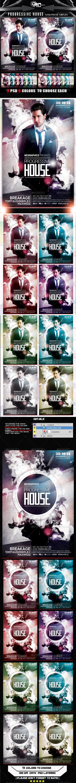 GraphicRiver Progressive House Flyer Poster Template 8013207