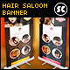 Hair Style Saloon Banner - GraphicRiver Item for Sale