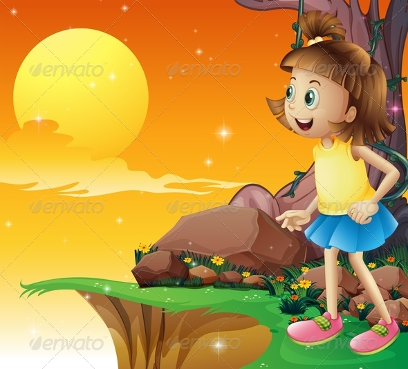 GraphicRiver Girl Looking at the Sky 8013344