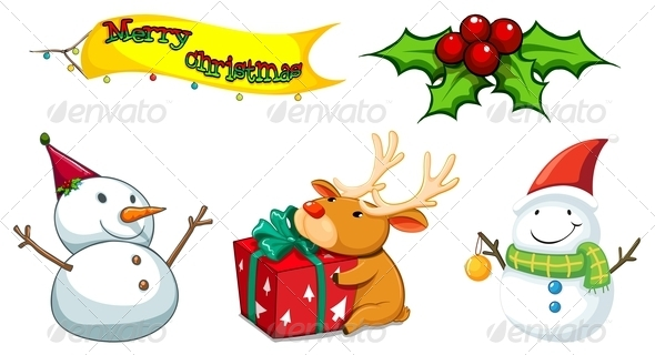 GraphicRiver Christmas Symbols 8013345