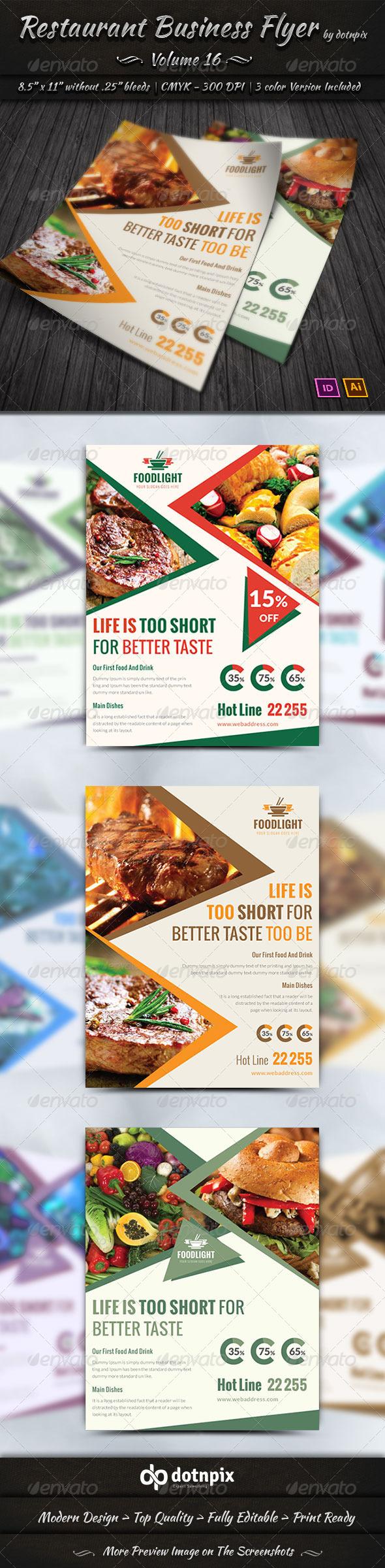 GraphicRiver Restaurant Business Flyer Volume 16 8013368
