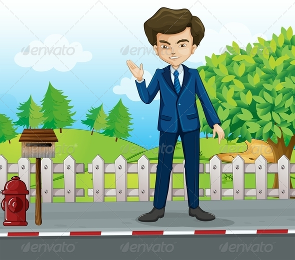 GraphicRiver Businessman in the Street 8013371