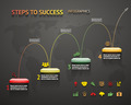 Success Option Steps Template Arrow and Staircase Infographic Icons Vector Illustration - PhotoDune Item for Sale