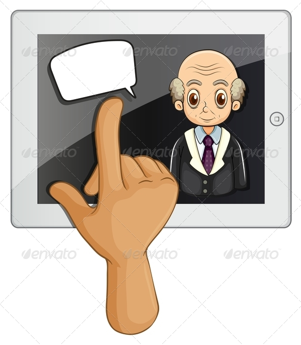 GraphicRiver Touch Pad and Speech Bubble 8013394