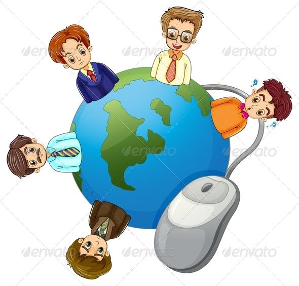 GraphicRiver Businessmen Around the Globe 8013397