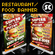Restaurant Food Banner - GraphicRiver Item for Sale