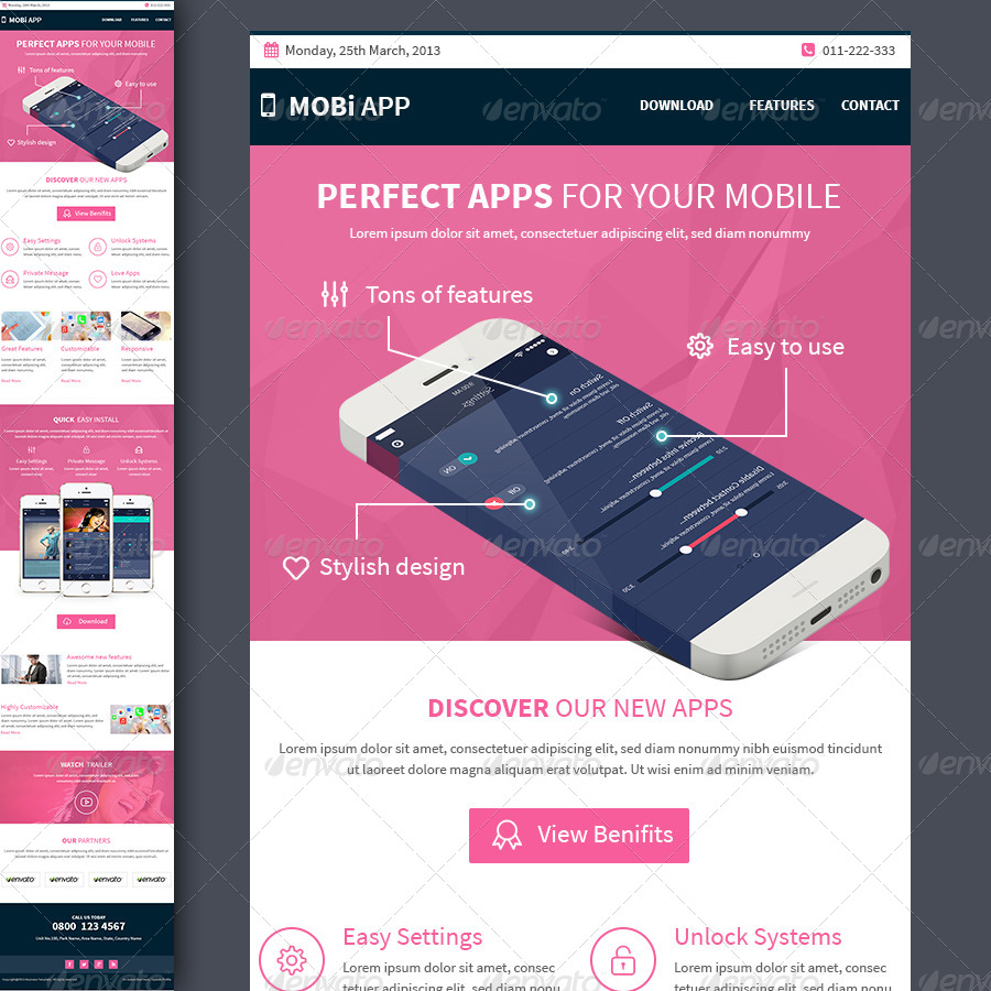 google apps email templates - mobile apps multipurpose e newsletter template by