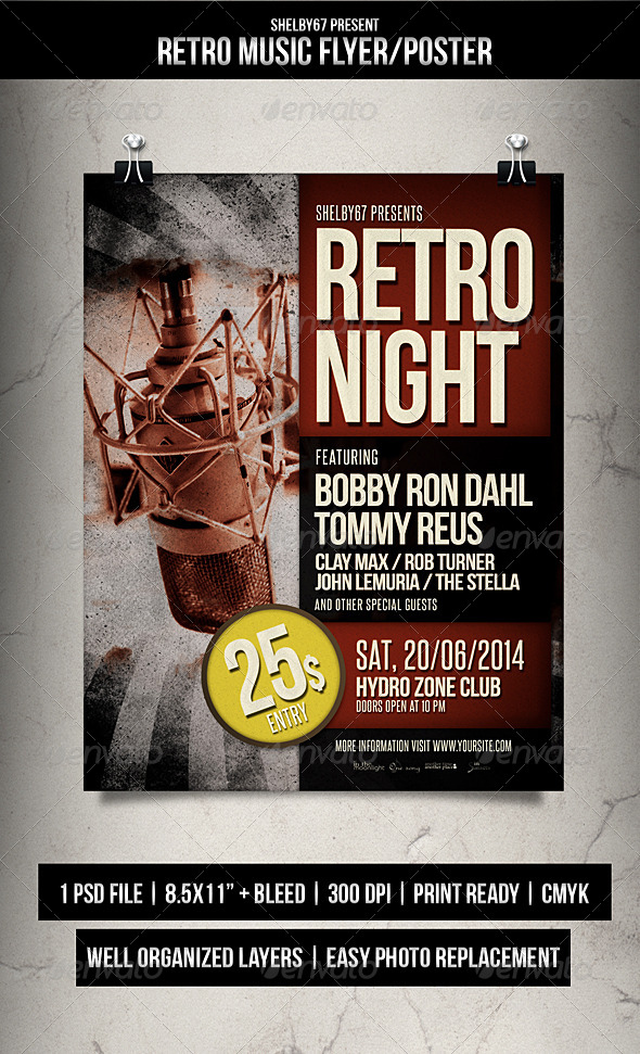 GraphicRiver Retro Music Flyer Poster 8013891