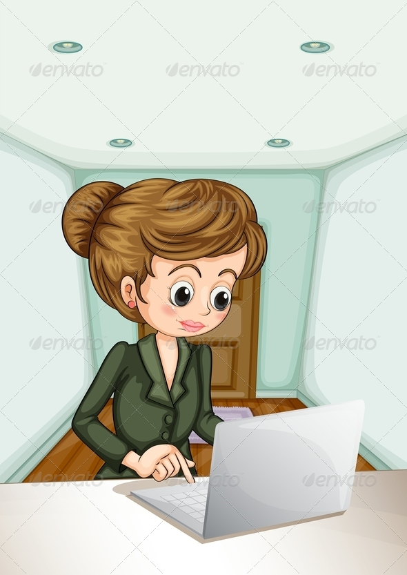 GraphicRiver Businesswoman Using Laptop 8013910
