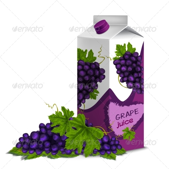 GraphicRiver Juice Pack of Grape 8013917