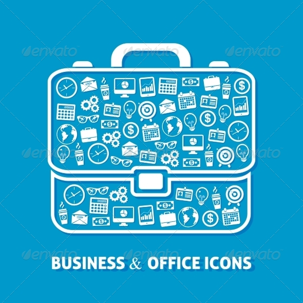 GraphicRiver Briefcase Office Icons 8013938
