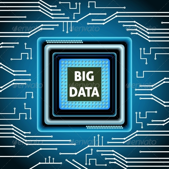 GraphicRiver Microchip Big Data Background 8013942