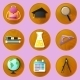 Wooden Education Icons - GraphicRiver Item for Sale