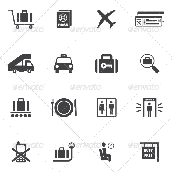 GraphicRiver Airport Icons Set 8013977