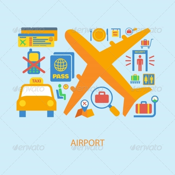 GraphicRiver Airport Icons 8013980