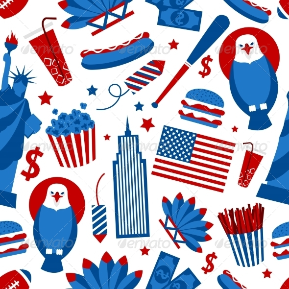 GraphicRiver New York USA Seamless Pattern 8013995