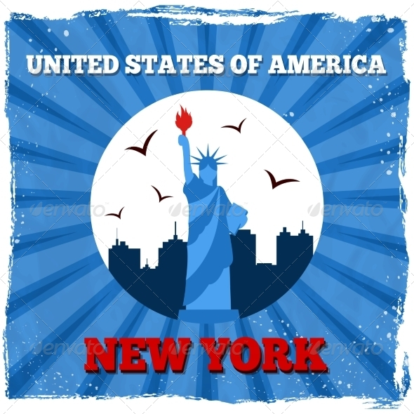 GraphicRiver New York USA Retro Poster 8013998