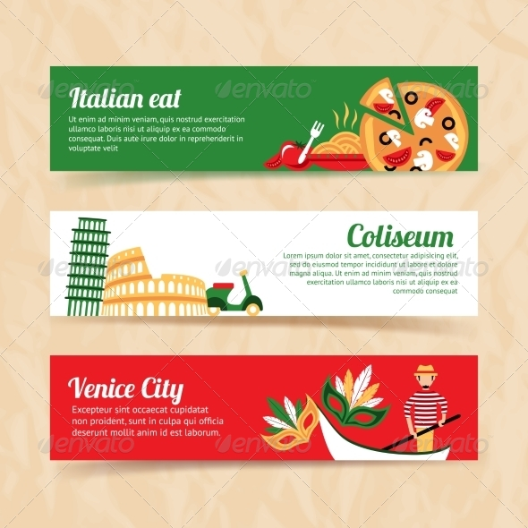 GraphicRiver Italy Banner Set 8014014