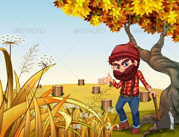 GraphicRiver Woodsman Day s Work 8014044